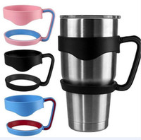Wholesale Wholesale Black Plastic Cups - New Plastic Handles for 30oz Yeti Rambler Tumbler Cups Secure Holder For RTIC Yeti 30oz Stainless Steel Insulated Tumbler Mugs DHL free