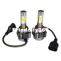 Wholesale h4 h1 bulb conversion resale online - 2pcs V K COB H10 H4 H7 H8 H9 H11 H1 H3 H13 Car LED Headlight Vehicle Conversion Bulb W W LM Lights