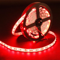 Wholesale 12v Lighting China - IP65 LED Flexible Strips DC12V 5050 2835 14.4W 60LEDs RGB Single Color Red Green Blue Waterproof Lights 100-240V Adapter Controller China