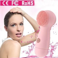Electric Face Cleanser Vibrate Waterproof Silicone Cleaning Brush Massager Facial Vibration Cura della pelle Spa Massage Strumento strumento di bellezza
