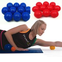 Wholesale Hand Massage Balls - 2017 New arrival High-quality 7cm PVC massage ball Yoga hand ball Barbed Fitness yoga products Environmentally non-toxic Wholesale