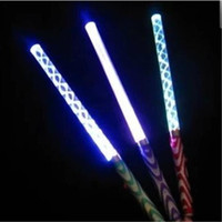 Wholesale Acrylic Rods - Colorful Electronic Wand LED Sticks Fluorescent Acrylic Rods Waves LED Glow Stick Halloween Christmas Party Concert Flashing LED Cheer Props