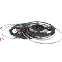 ruban de pcb achat en gros de-La carte PCB flexible blanche 60leds / m DC12V de lampe de bande de diode du côté étroit 5mm LED d'IP20 2835 SMD a mené la lumière de ruban