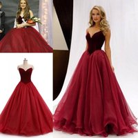 Wholesale Split Sleeve Occasion Dresses - Real Image in stock 2017 Burgundy Velvet Prom Dresses Formal Evening Party Pageant Gowns Ball Gown Sweet-heart Long Occasion Dresses Cheap