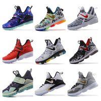 Wholesale Silk Black Cheap Lace Top - Wholesale Cheap 2017 LB 14 James Men Basketball Shoes Top Quailty New Arrival LBJ XIV Sneakers 14s High Cut Mens Sports TRAINERS