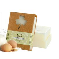Wholesale Wholesale Goats Milk - 100g Handmade Goat Milk Honey Soap Allergy Repair Shrink Pores anti Acne Oil Soap Cold Process Bar Soap for Sensitive Skin ZA3006