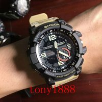 Wholesale Acrylic Compass - High quality AAA men's sports GG1000 Compass and thermometer functions watch LED chronograph GA100 110 all function work waterproof with box