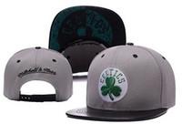Wholesale Good Snapbacks - 2016 New Snapback Cap Baseball Hat For Men Women celtics Sport Hip Hop Mens Womens Basketball Cap adjustable Good Quality bone pierce hats