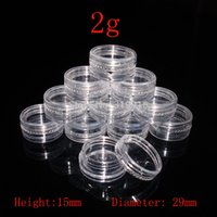 Wholesale Nail Samples - 2g Small Round sample Cream Bottle Jars container , Mini plastic container for nail art storage 2ml DIY PS plastic bottles