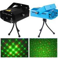 ingrosso ballo di discoteca-Prendi il prezzo di costo del campione 150mW GreenRed Laser Blu / Nero Mini Laser Stage Lighting DJ Party Stage Light Disco Dance Dance Lights