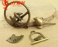 Wholesale Manufacturer Key - Manufacturers supply zinc alloy metal accessories, retro antique bronze bird charms brass pendants, key rings gifts wholesale