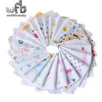 Wholesale Cheap Handkerchief Cotton - Wholesale- Retail 10pcs pack 100 Cotton 1 layers acquard weave Cheap Baby gauze Boy Girls handkerchief Infant Free Shipping 2014