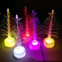 Wholesale christmas lights hat - 20pc Hot sale The Christmas light tree Christmas gift fiber optic light Christmas hat activity 65O