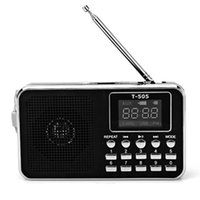 Wholesale Home Radio Stereo - Wholesale-Excellent Quality Universal Home Stereo Mini Portable Radio TF Card FM Radio Digital with LED Screen