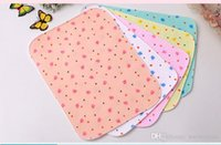 Wholesale Baby Aunt - Cotton baby urine pad can be washed waterproof water leakage urine aunt small mat newborn baby supplies breathable diapers
