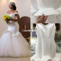 Wholesale pictures mermaid style wedding dresses for sale - Group buy 2019 Glamorous Mermaid Wedding Dresses Off the shoulder Dubai Arabic Style Bridal Gowns Beads Backless Custom Made Beach Wedding Dresses