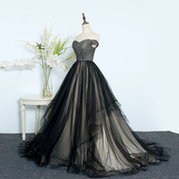 Wholesale Dresses For Young Girls - Black Ball Gown Prom Dresses Off Shoulder Lace Up Tulle Evening Military Ball Dress for Women and Young Girl Custom Size