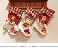 2017 más nuevo rebaño de Navidad Stocking Old Man Christmas Gift Bag Stocking 3 estilos Christmas Tree Decoration Calcetines Snow Man Elk