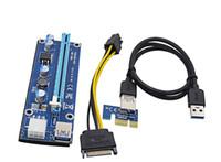 pin pcie power cable achat en gros de-PCIe VER 006 PCI-E 16 x à 1 x alimenté Câble de rallonge USB 3.0 Câble d'alimentation PCI-E à SATA à 6 broches
