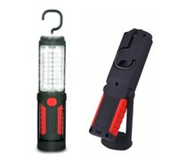 Wholesale hook magnet led flashlight - 36 LED Work Light 5 LED Flashlight emergency Kit with Magnet 360 Degree Rotating Hanging Hook for Household Workshop Garage Camping Red&Blu