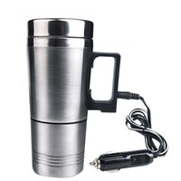 Wholesale Water Lighter - Water Heater Mug, Vacuum Insulated Car Electric Kettle Heated Stainless Steel Car Cigarette Lighter Heating Cup Coffee Cup with Charger