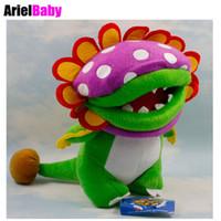 "Wholesale Petey Piranha Plush - New Super Mario Petey Piranha Flower Baby Toy Plush Doll Figure Birthday Gift Approx 20cm 8"""