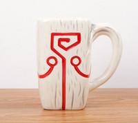 dota anhänger großhandel-DOTA 2 TI4 Zubehör Juggernaut Jugg Mask Anhänger Keramiktasse Kaffeetasse zur Sammlung