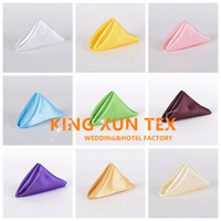 Wholesale Napkins Fabrics - 100pcs Satin Table Napkin For Wedding And Event Decoration