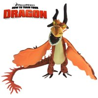 """Wholesale Deadly Nadder Plush - New How to Train Your Dragon Nightmare Plush Doll Yellow Dragon Monstrous Deadly Nadder Fire Cartoon Xmas Toys Big 14""""36cm"""