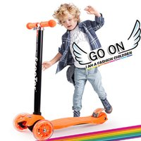 Wholesale Scooters For Kids Wholesale - Four-Wheel Folding Kids Skateboards Car Flash Lifting Light Energy Children Twisting Scooter For Sale Height Can Be Adjusted Mini Skateboard