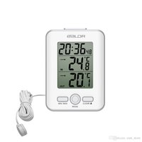 Nuovo LCD Termometro digitale Sensore cablato Indoor Outdoor Home Sonda Temperatura Trend Meter Snooze Table Watch Alarm Clock