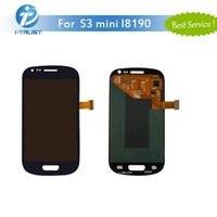 Wholesale Galaxy S3 Color Screen - AAA Quality LCD For Samsung For Galaxy S3 Mini i8190 LCD Digitizer Display Screen Color Black or White With Free DHL Shipping