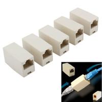 ingrosso connettori rj45 di qualità-Freeshipping 50pcs / lot Connettore RJ45 CAT 5 5E Extender Plug di alta qualità Newtwork Ethernet Lan Cavo accoppiatore