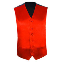 Wholesale Wholesale Men S Waistcoats - Wholesale- Mens Wedding Waistcoat Groom (Red S UK 36)