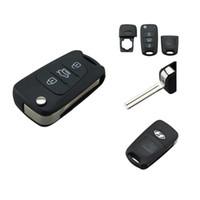 caja de funda de la llave al por mayor-Garantizado 100% 3 botones clave Blanksv para Hyundai i20 i30 ix35 plegable remoto Shell Shell Fob Funda cubre envío gratis