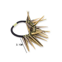 Hot Fashion Hair Rope Tide Hair Ring Metal Rivet Creative Head Tie Hot Hair Ornements Ornements pour filles