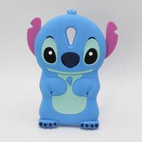 Wholesale Stitch Back Case - NEW Cute 3D Cartoon Stich Soft Silicone Back Cover Lilo Stitch Case For HTC Desire 626 626w 626d 626g D626 610 620 816 820 M9