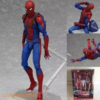 Wholesale Movable Dolls Christmas - NEW hot 15cm Justice league spider-man spider man movable Action figure toys collection doll Christmas gift