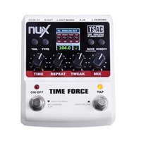 Wholesale Digital Time Delay - NUX TIME FORCE Guitar Effect Pedal Multi Digital Delay 11 Delay Effects High Quality Guitar Parts & Accessories