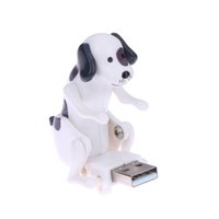 Wholesale Cute Dog Usb - Wholesale- New White Mini Funny Cute USB Humping Spot Dog Toy USB Gadgets Humping USB Powered Dog For PC Laptop Gift for Kids