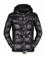 Wholesale Hit Hat - 2017 new men's models zipper stand down collar hit color cardigan warm casual cotton jacket men shirt Cotton garment Keep warm Down jacket