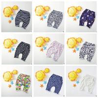 Wholesale Boys Pants Stars Pocket - Baby PP Pants Toddler Harem Pants Boys Cartoon Cropped Trousers Animal Stripe Print Geometric Kids PP Pants Star Dot Pocket Leggings J282