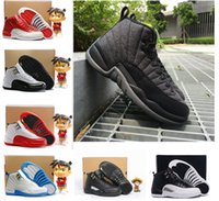 2017 air retro 12 XII Chaussures de basket-ball homme ovo blanc Laine Premium Deep Royal Blue Suède taxi gym rouge GS Barons playoffs Sneakers