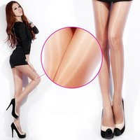 Wholesale tights nylon pantyhose - Wholesale- Women Sexy Shiny Untra-Thin Stockings Pantyhose Tights Breathable Sheer Hosiery Whole sale