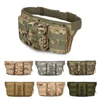 Wholesale Tactical Climbing Pack - Outdoor Molle Waterproof Cycling Pocket Waist Bag Pack Military Tactical Camouflage Climbing Riding Sports Military Bag Pouch