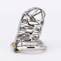 Wholesale Steel Sex Toys Chastity - Extreme Confinement Chastity Cage Stainless Steel 83mm Legth Chastity Device Sex Toys Lock Ring For Men