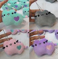 Wholesale Cat Plush Keychain - Pusheen Plush pendant Animal Doll Toys Pusheen Cat Stuffed Keychain Pendant Handbag Charm Jewelry Toys Gifts 10cm KKA3019