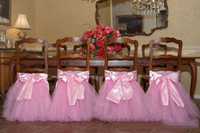 Frete Grátis Custom Made Lace Tulle Chair Sashes Party Chair Gauze Back Sash Chair Decoração Covers Party Wedding Suppies
