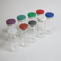 viales de inyección de vidrio transparente al por mayor-100 / lot 10 ml Clear Injection Glass Vial Flip Off Cap, 1 / 3oz Amber Glass Bottle, 10cc Envases de vidrio