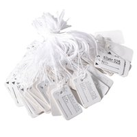 Argositment Sale-1000 Pack Jewelry Display Tie-on Price Tag Label Silver White Jewelry String Цена Теги Серебряные ювелирные изделия